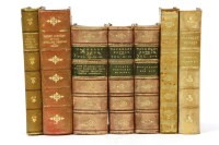 Lot 44-FINE BINDINGS: Large quantity of good 19 century full and half leather bound books (qty.)