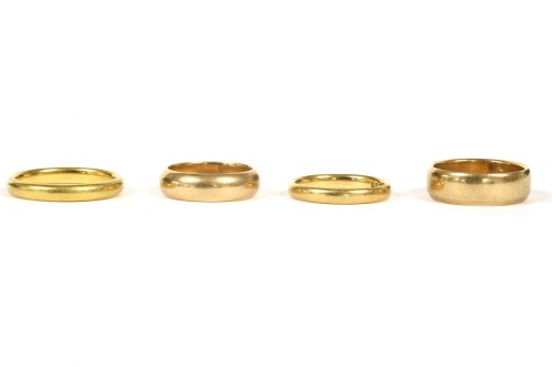 Lot 25-Two 22ct gold wedding rings