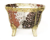 Lot 5 - A mottled glass and gilt bowl
