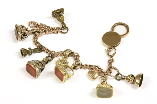Lot 41-A gold curb link bracelet