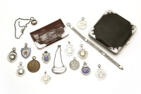Lot 90 - Two silver mounted leather cases