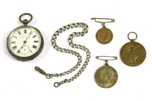 Lot 4-A silver pocket watch
