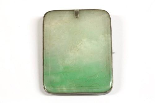 Lot 37-A jade plaque brooch