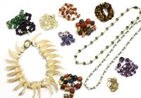 Lot 57 - A collection of gemstone necklaces