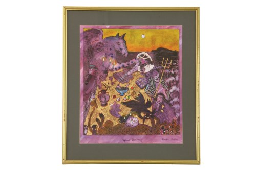Lot 464-Linda Sutton (b.1947) 'PEGASUS' BIRTHDAY' Signed and inscribed with title