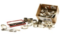 Lot 88 - A collection of hallmarked silver items
