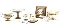 Lot 95 - A collection of hallmarked silver items