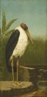 644 - Henry Stacy Marks RA (1829-1898) A MARABOU STORK; A STORK; A pair
