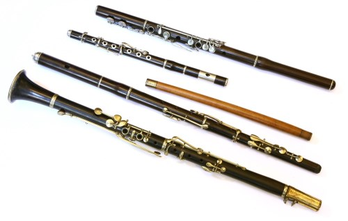 428 - A collection of 19th Century woodwind musical instruments
