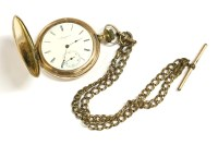 Lot 47 - A rolled gold Hunter pocket watch