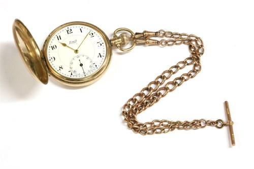 Lot 49-A 9ct gold Hunter pocket watch