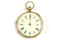 Lot 55 - An 18ct gold Roylet Ronson open faced pocket watch