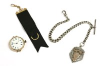 Lot 51 - A rolled gold open face fob watch