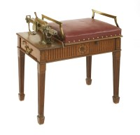 Lot 512-A set of walnut country house or jockey scales
