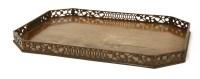 Lot 513-A George III mahogany tray
