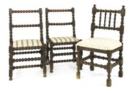 Lot 504-A pair of bobbin turned chairs