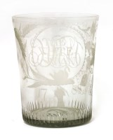Lot 503-A cut-glass vase