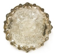 Lot 501-A Victorian silver salver of agricultural interest