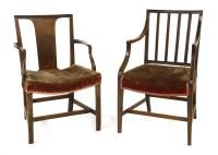 Lot 525-A George III mahogany armchair