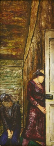 Lot 12-*Carel Weight RA (1908-1997) 'ANXIETY' Signed u.l.