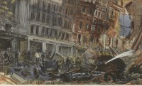 Lot 11-*Anthony Gross RA (1905-1984) LEICESTER SQUARE