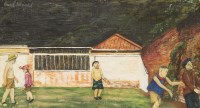 Lot 13-*Carel Weight RA (1908-1997)  'BOY'S GAMES' Signed u.l.