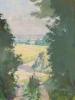 Lot 43 - *Sir Lawrence Gowing RA (1918-1991) A SUNLIT LANDSCAPE Signed l.l.