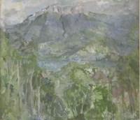 Lot 45 - *Peter Greenham RA (1909-1992)  LAKE ANNECY