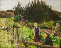 Lot 83 - *Carel Weight RA (1908-1997) BY THE FENCE Signed l.l.