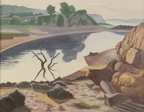 Lot 395 - *John Northcote Nash RA (1893-1977) REFLECTIONS ON THE WATER Signed l.r.
