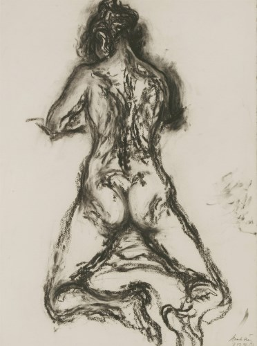 Lot 402-*Maggi Hambling (b.1945) KNEELING FEMALE NUDE Signed and dated '7.12.92' l.r.