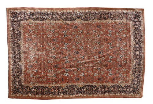 896 - A large Persian Kashan hand-knotted carpet