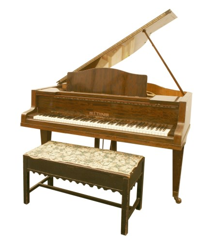 359 - A mahogany baby grand piano