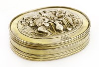 Lot 13-An 18th century Dutch silver gilt tobacco box