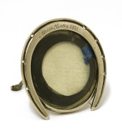 Lot 35-A small Victorian novelty silver photograph frame