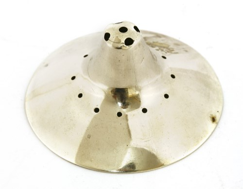 Lot 21-A George III silver nipple shield