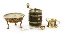 Lot 34-A miniature silver Edwardian tyg