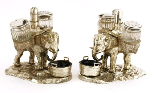 Lot 85 - A pair of late Victorian electroplated cruets
