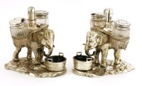 85 - A pair of late Victorian electroplated cruets