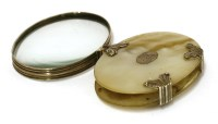Lot 45-A mother-of-pearl and silver Georgian spy glass