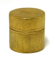 Lot 4-A stylish modern silver gilt pill/trinket box