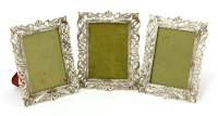 Lot 26-Three Continental silver photograph frames