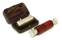 Lot 14-A late Victorian silver scent bottle