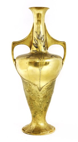 Lot 22-An Orivit gilt twin-handled vase