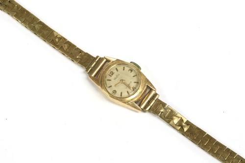 Lot 49-A ladies gold MuDu mechanical watch