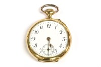 Lot 62-A ladies gold open faced pocket watch