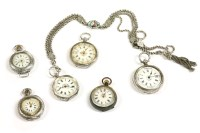 Lot 72-A silver Continental open face fob watch