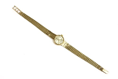 Lot 59-A ladies 9ct gold Omega mechanical bracelet watch