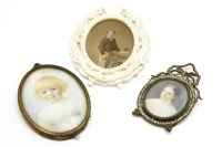 Lot 99-Two miniatures