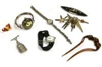 Lot 71-A silver open faced watch